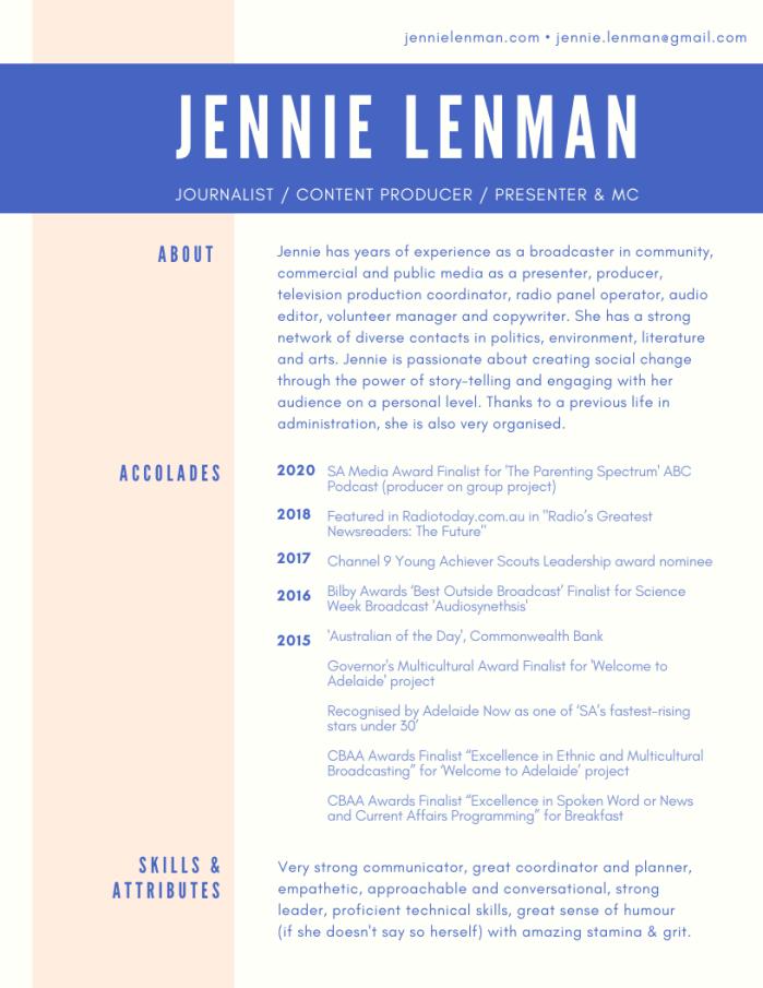 Media Resume 2020 PAGE 1