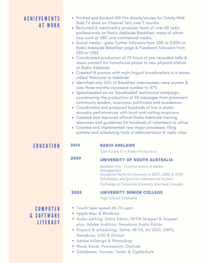 Media Resume 2020 PAGE 3